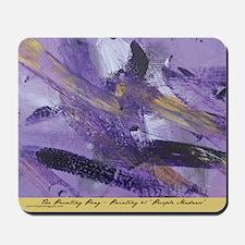 Purple Madness Art Mousepad