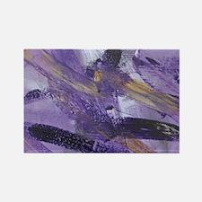 Purple Madness Art Rectangle Magnet