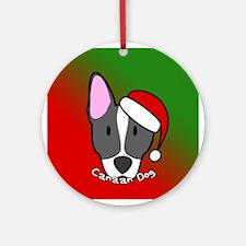 Cartoon Canaan Dog Christmas Ornament