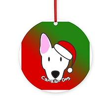Cartoon White Canaan Dog Christmas Ornament