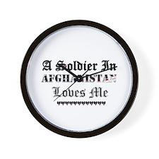 Soldier in Afghanistan Wall Clock