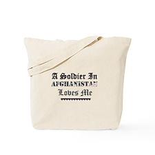 Soldier in Afghanistan Tote Bag