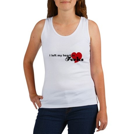 I Left My Heart in Forks Women's Tank Top