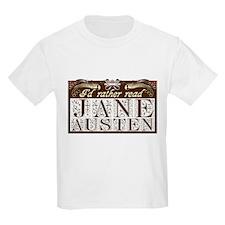 """I'd Rather Read Jane Austen  Kids T-Shirt"