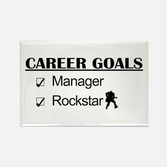 Manager Career Goals - Rockstar Rectangle Magnet