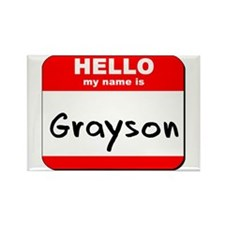 Hello my name is Grayson Rectangle Magnet