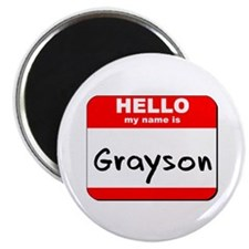 """Hello my name is Grayson 2.25"""" Magnet (10 pack)"""
