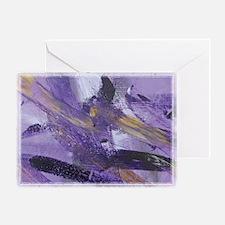 Purple Madness Art Greeting Card