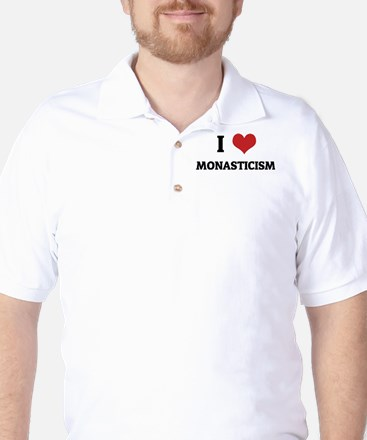 I Love Monasticism Golf Shirt