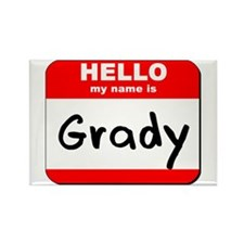 Hello my name is Grady Rectangle Magnet