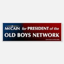 McCain for President of his old boys club Bumper Bumper Sticker