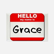 Hello my name is Grace Rectangle Magnet