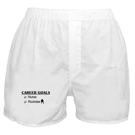 Nurse Career Goals - Rockstar Boxer Shorts