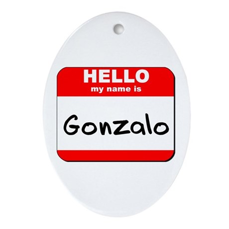 Hello my name is Gonzalo Oval Ornament