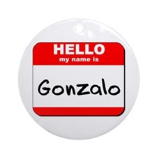 Hello my name is Gonzalo Ornament (Round)