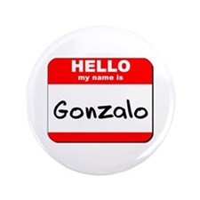 "Hello my name is Gonzalo 3.5"" Button"