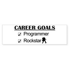 Programmer Career Goals - Rockstar Bumper Sticker