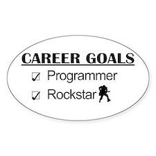 Programmer Career Goals - Rockstar Oval Decal