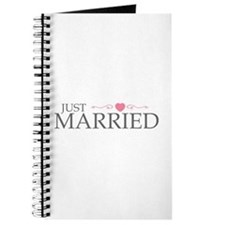 Just Married (Heart Scroll Pink) Journal