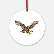 Flying Eagle Tattoo Art Ornament (Round)