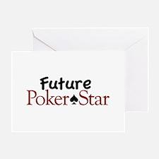 Future Poker Star Greeting Card