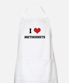 I Love Methodists BBQ Apron