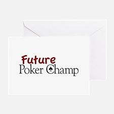 Future Poker Champ Greeting Card