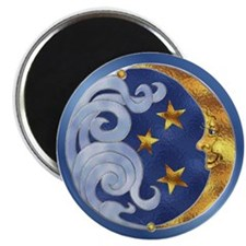 "Celestial Moon and Stars 2.25"" Magnet (10 pack)"