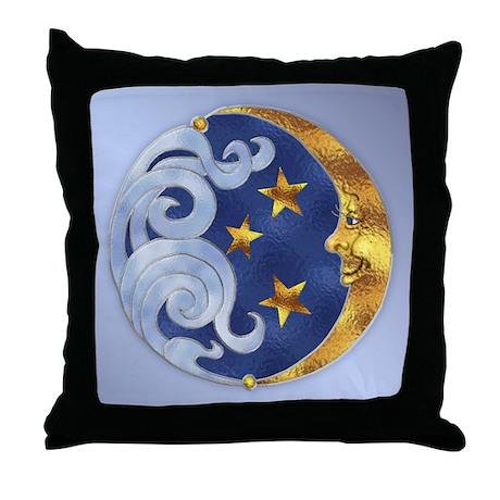 Celestial Moon And Stars Throw Pillow