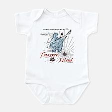 Blue Treasure Island Infant Bodysuit