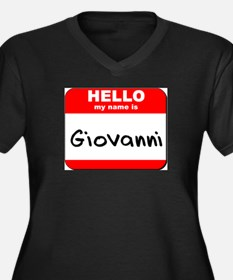 Hello my name is Giovanni Women's Plus Size V-Neck