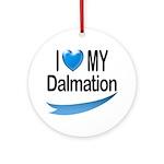 I Love My Dalmation Keepsake (Round)