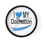 I Love My Dalmation Wall Clock