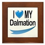 I Love My Dalmation Framed Tile