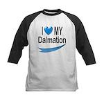 I Love My Dalmation Kids Baseball Jersey