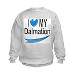 I Love My Dalmation Kids Sweatshirt