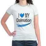 I Love My Dalmation Jr. Ringer T-Shirt