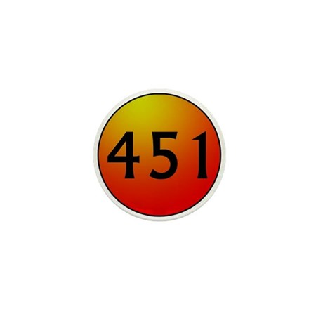 451 Fahrenheit Mini Button