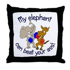 Fighting Mascots Throw Pillow