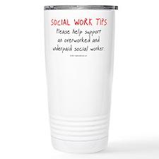 Social Work Tips Travel Mug