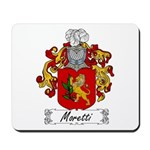 Moretti Family Crest Mousepad