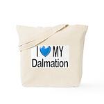 I Love My Dalmation Tote Bag