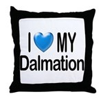I Love My Dalmation Throw Pillow