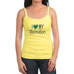 I Love My Dalmation Jr. Spaghetti Tank