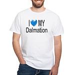 I Love My Dalmation White T-Shirt
