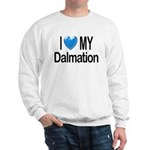 I Love My Dalmation Sweatshirt