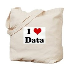 I Love Data Tote Bag