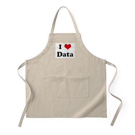 I Love Data BBQ Apron