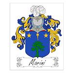 Morini Family Crest Small Poster