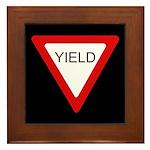 Yield Sign - Framed Tile